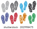 the collection of a imprint... | Shutterstock . vector #202998475