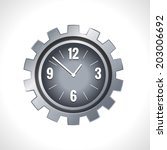 metal cog wheel gear steel... | Shutterstock .eps vector #203006692