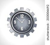 metal cog wheel gear steel... | Shutterstock .eps vector #203006692
