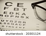 Vintage Eyechart With Old...