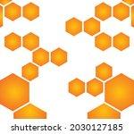 honeycomb texture vector art...   Shutterstock .eps vector #2030127185