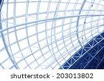 large steel structure truss ... | Shutterstock . vector #203013802