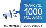thank you 1000 followers banner   Shutterstock .eps vector #2030148095