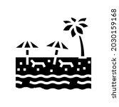 beach sandy resort glyph icon... | Shutterstock .eps vector #2030159168