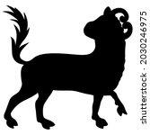 stylized bull or calf. taurus... | Shutterstock .eps vector #2030246975