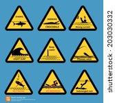 Beach Travel Warning Sing...