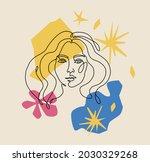 beautiful girl. contemporary... | Shutterstock .eps vector #2030329268