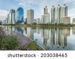 bangkok city landscape with... | Shutterstock . vector #203038465