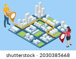 isometric logistics and... | Shutterstock .eps vector #2030385668