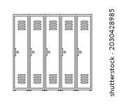 locker icon. school lockers... | Shutterstock .eps vector #2030428985