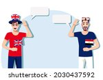 men with british and egyptian... | Shutterstock .eps vector #2030437592
