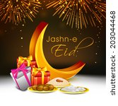 muslim community festival eid... | Shutterstock .eps vector #203044468