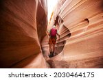 Slot Canyon In Grand Staircase...