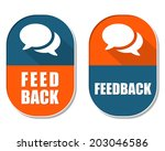 feedback and speech bubbles... | Shutterstock .eps vector #203046586