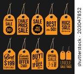 unique sale tags  | Shutterstock .eps vector #203047852