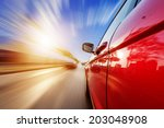 car on the road with motion... | Shutterstock . vector #203048908
