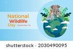 national wildlife day on... | Shutterstock .eps vector #2030490095