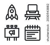 new business icons set   rocket ...
