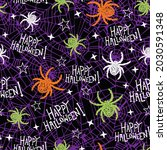 seamless halloween pattern for... | Shutterstock .eps vector #2030591348