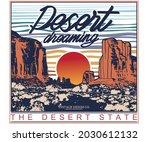 desert dreaming vector...   Shutterstock .eps vector #2030612132