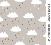 baby seamless pattern with cute ... | Shutterstock .eps vector #2030616485