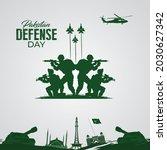pakistan defense day.... | Shutterstock .eps vector #2030627342