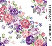 stylish beautiful floral... | Shutterstock .eps vector #203066596