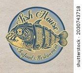 design emblem fish house....   Shutterstock . vector #2030743718