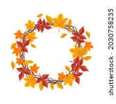 round frame with orange and... | Shutterstock .eps vector #2030758235