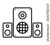 speaker vector outline icon...   Shutterstock .eps vector #2030780315