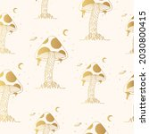 golden seamless pattern with ... | Shutterstock .eps vector #2030800415