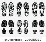 black  prints of shoe  vector... | Shutterstock .eps vector #203080312