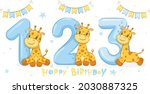collection of 3 cute giraffes ...   Shutterstock .eps vector #2030887325
