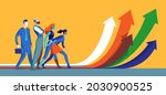 group of people ready to take...   Shutterstock .eps vector #2030900525