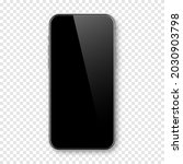realistic smartphone with blank ... | Shutterstock .eps vector #2030903798