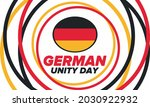 german unity day. celebrated... | Shutterstock .eps vector #2030922932