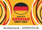 german unity day. celebrated... | Shutterstock .eps vector #2030923118