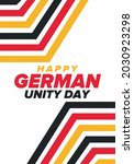 german unity day. celebrated... | Shutterstock .eps vector #2030923298