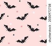 seamless pattern with bats.... | Shutterstock .eps vector #2030972738