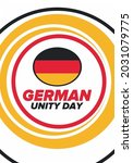 german unity day. celebrated... | Shutterstock .eps vector #2031079775