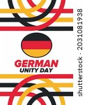 german unity day. celebrated... | Shutterstock .eps vector #2031081938