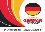 german unity day. celebrated... | Shutterstock .eps vector #2031082055