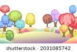 candy background. cartoon sweet ... | Shutterstock .eps vector #2031085742