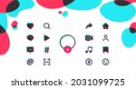 set of colored flat icons...