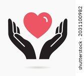charity icon. vector... | Shutterstock .eps vector #2031100982