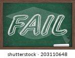 getting a bad grade  fail... | Shutterstock . vector #203110648