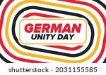 german unity day. celebrated... | Shutterstock .eps vector #2031155585