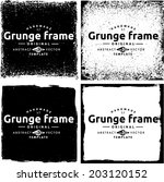 abstract grunge frame set.... | Shutterstock .eps vector #203120152