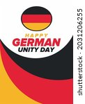 german unity day. celebrated... | Shutterstock .eps vector #2031206255