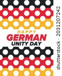 german unity day. celebrated... | Shutterstock .eps vector #2031207242